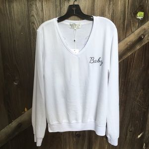 New Wildfox Baby jumper sweater with angel wings L